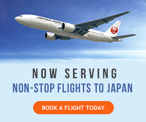 Fly nonstop to Asia aboard JAL